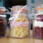 weding cake jars close up