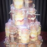 Assorted flavour wedding cake jars