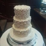 White Flowers 3-tier wedding cake