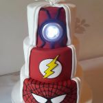 'Skye' Heroes hidden reveal wedding cake, reveal side, light on