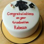 graduation gown cake