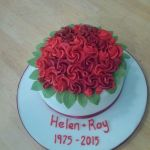 Red Roses Ruby Anniversary cake