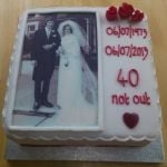 40th Anniversary photo cake