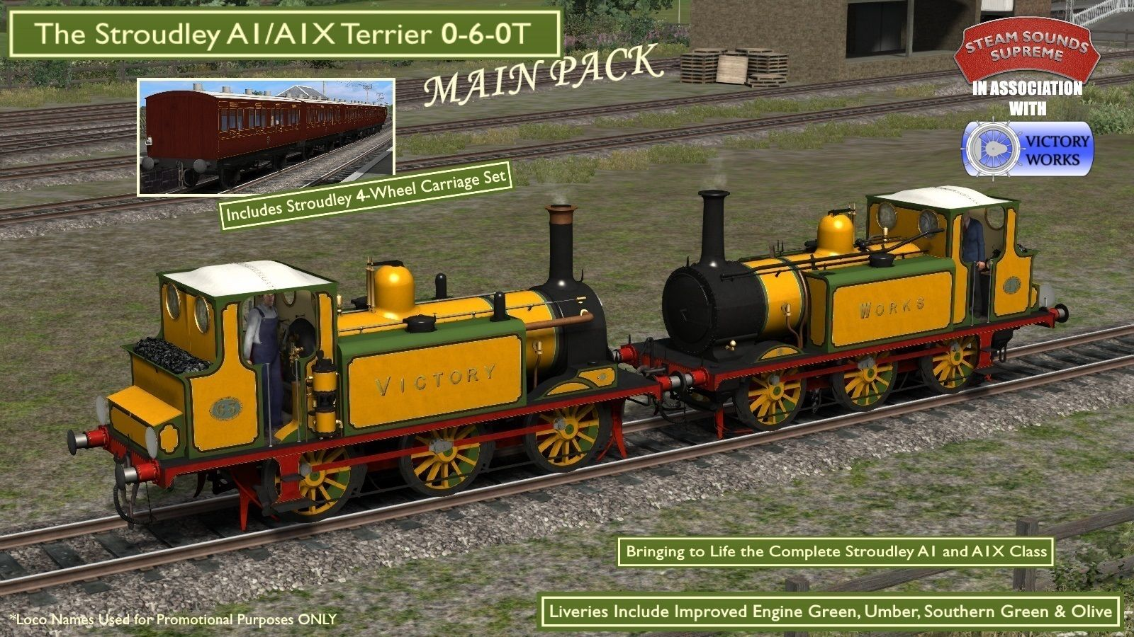 Stroudley A1/A1X Terrier 0-6-0T MAIN PACK