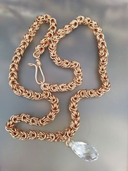 Rosetta Solid Bronze and Swarovski Necklace