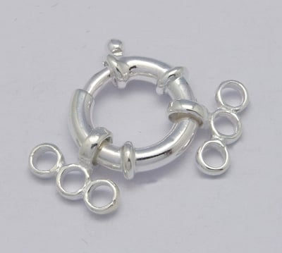 Sterling Silver Clasps and Beads