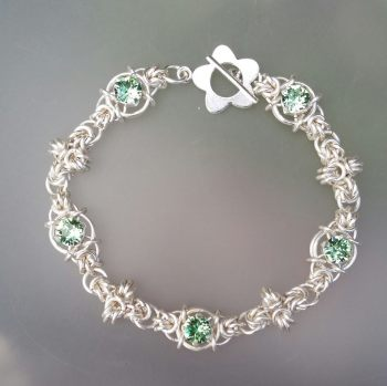 Chainmaille Swarovski Sweetheart Bracelet Tutorial
