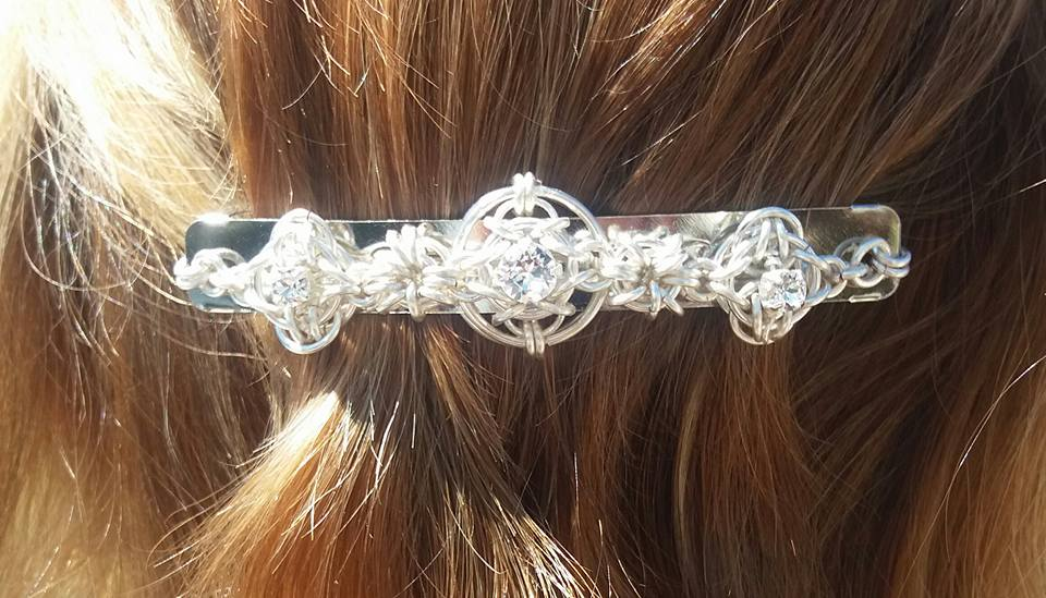 Chainmaille Hair Barrett/Clip Tutorial only Instant Download