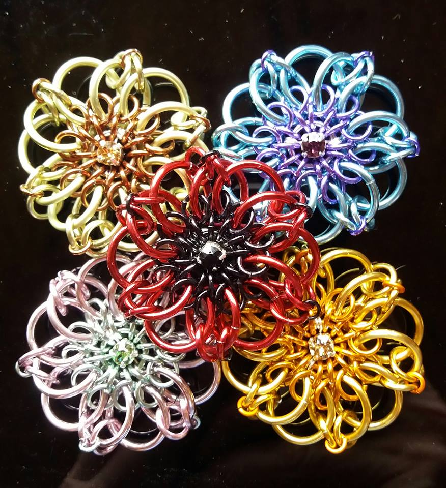 The Garden Collection Swarovski Chainmaille Tutorial Only Instant Download