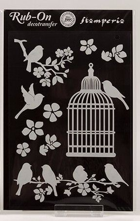 Stamperia Butterfly Decotransfer Bird and Cages
