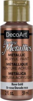 DecoArt Acrylic (americana) Rose Gold Metallic 2oz