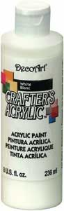 DecoArt White - Crafters Acrylic 8oz