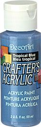 DecoArt Tropical Blue Crafters Acrylic 2oz
