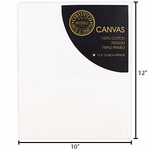 "Artists' Canvas: 12 x 10"" pack of 3"