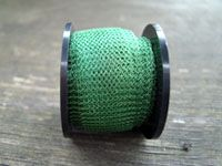 Knitted Wire 15 mm Leaf Green