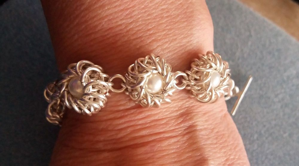 Chainmaille Bead Nest Bracelet Tutorial only