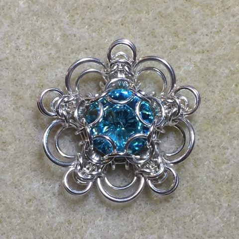 Byzantine Flower Pendant