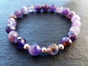 """""""Calm Collection""""   Amethyst and Sterling Silver Bracelet"""