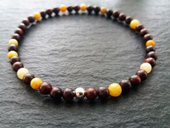"""""""Calm Collection""""  Sterling Silver and Mookaite Stacking Bracelet"""