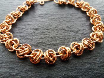 Solid Bronze Barrel Weave Bracelet