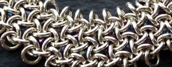 Sterling Silver 935 and Crystal Beaded Hoo Doo Hex Bracelet