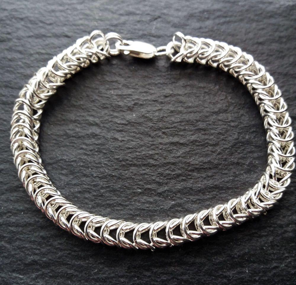 Sterling Silver Box Bracelet