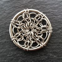 Round & Round We Go Chainmaille Pendant Tutorial only