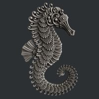 Large Seahorse Silicone Mould