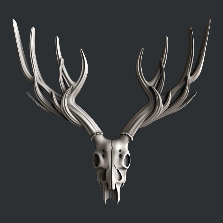 Deer head Skull medium