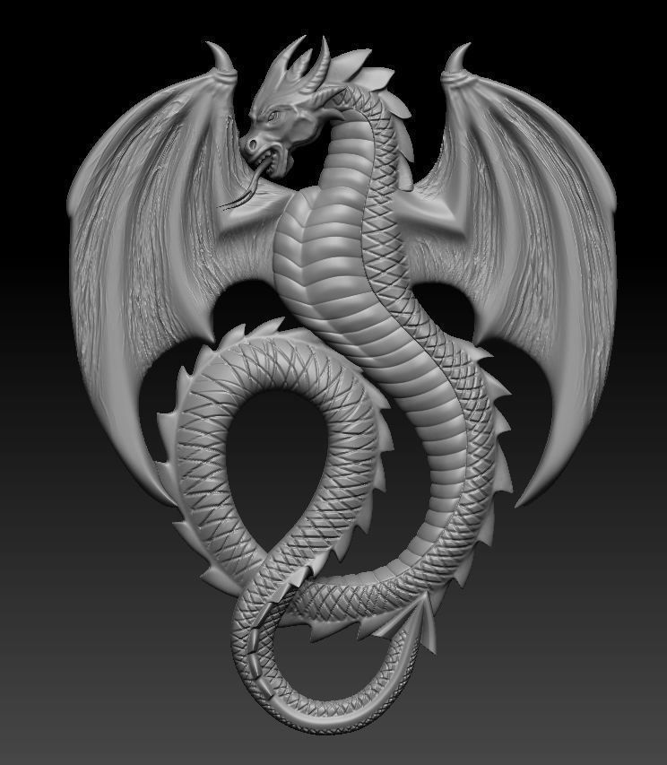 Dragon open wing