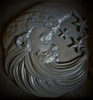 Santa Moon Silicone Mould Medium