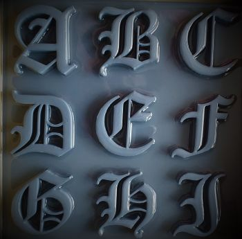 Old English Alphabet Silicone Moulds