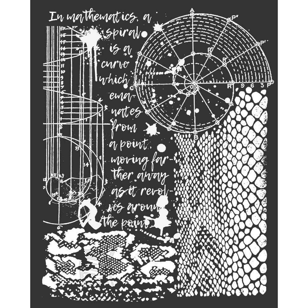 Thick stencil 20x25 cm Cosmos python effect