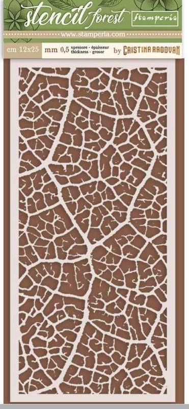 Thick Stencil cm. 12X25cm  Forest leaf