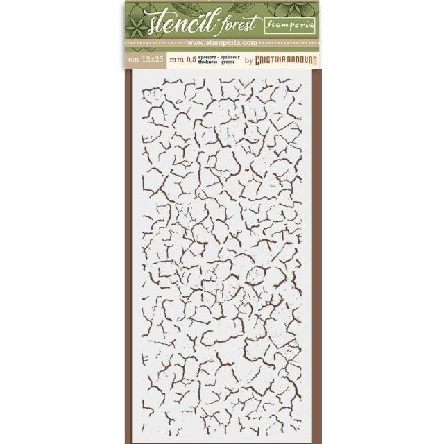 Thick Stencil cm. 12X25 Forest Craklé