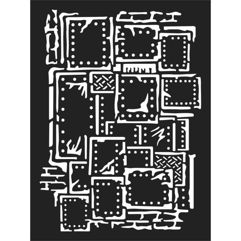Thick stencil cm. 15x20 Steampunk