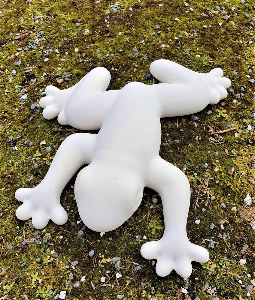 Ceramic Bisque Wall Frog Medium