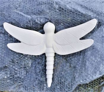 Ceramic Bisque Wall Dragonfly Large