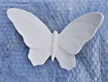 Ceramic Bisque Wall Butterfly