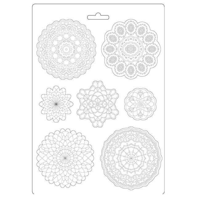 Soft Mould A4 - Passion round lace