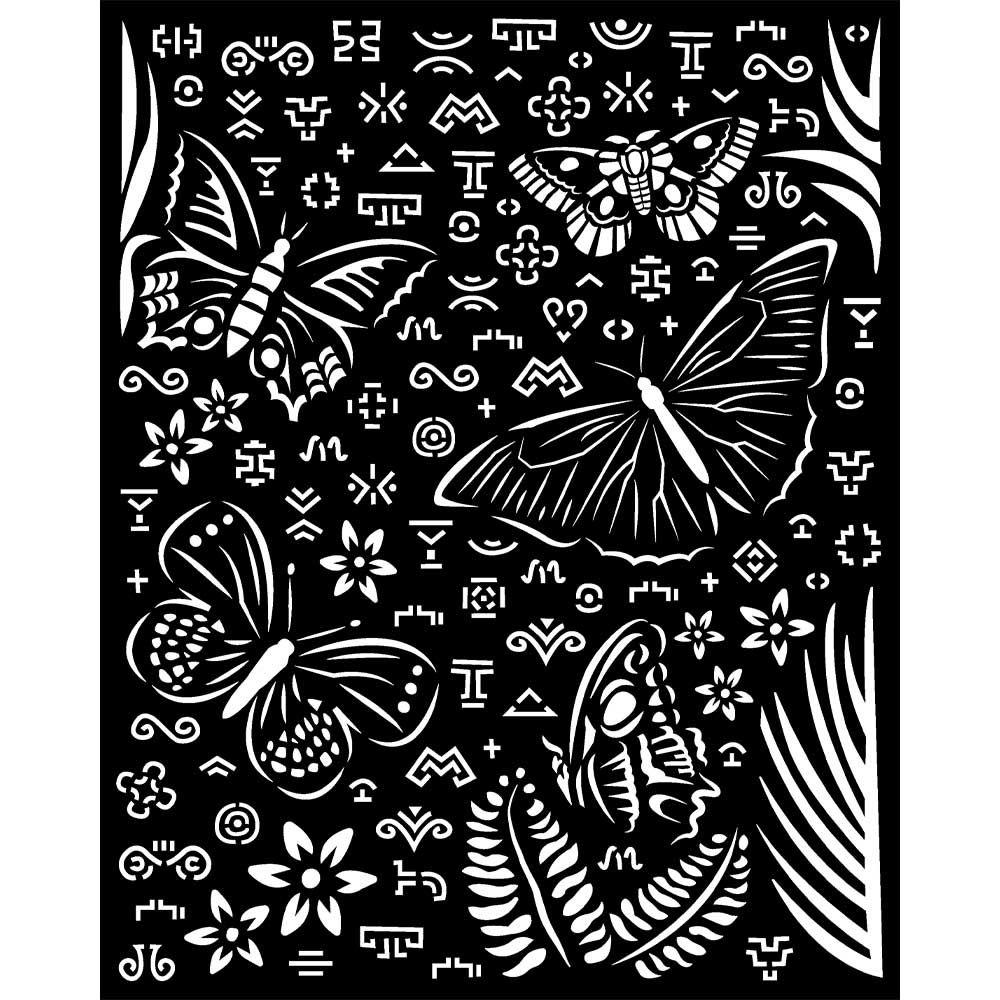 Thick Stencil 20x25 cm - Amazonia butterflies