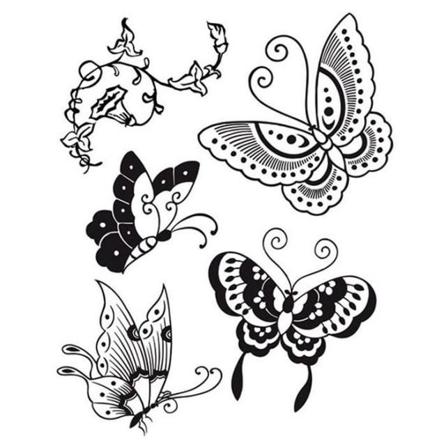 HD Natural Rubber Stamp cm. 14x18 Butterfly