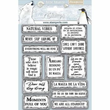 HD Natural Rubber Stamp cm.14x18 Quotes