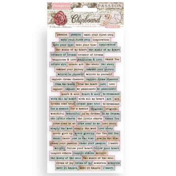 Chipboard cm 15x30 - Passion quotes