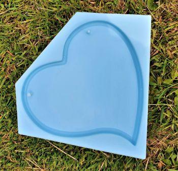 Deep Large Hanging Heart Plaque