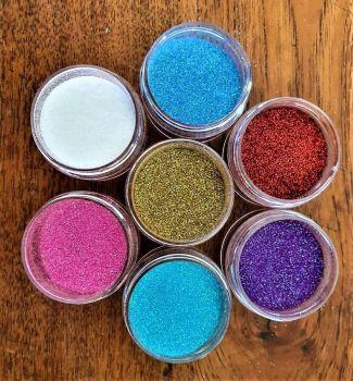 Ultra fine glitter pack.7 x 25g per pot
