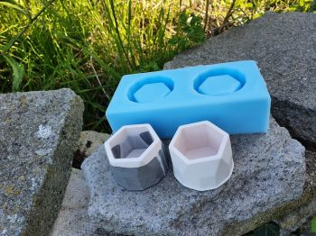 2 x Tealight Holders Silicone Mould