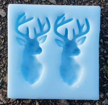 Double Stag pendant size Silicone Mould