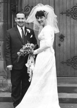 with pam on wedding day 1967