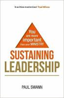 sustaining leadership book - front cover
